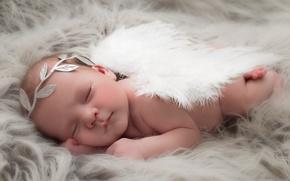 Wallpaper baby, comfort, angel