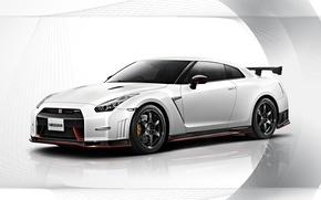 Picture Nissan, white, GT-R, R35, Nismo