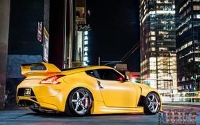 Picture machine, auto, Nissan, drives, auto, side, 370z, Z34, Projekt 1 Wheels