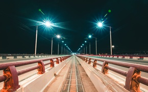Picture Photo, Bridge, Night, The city, Lights, City, Night, Photo, Irkutsk, Irkutsk
