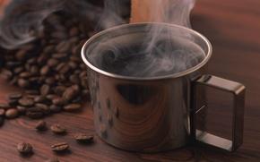 Wallpaper coffee, grain, Cup, miscellaneous coffe, cup of black coffe
