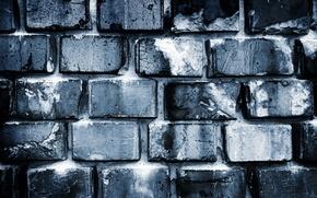 Wallpaper wall, white, black, bricks, Grey, pattern, cement