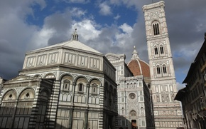 Picture the city, area, panorama, Italy, Florence, Duomo
