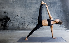 Wallpaper pose, yoga, sportswear