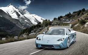 Picture mountains, speed, supercar, Vencer, Sarthe