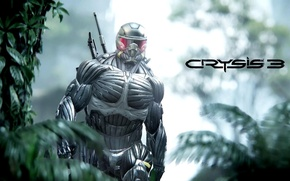 Picture Crysis, Jungle, Hunter, Nanosuit, Game, Weapon, Crysis 3, Soldier, Pearls, SCI Fi, Nanomed, CryEngine, Critek