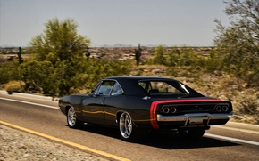 Wallpaper road, strip, dodge, charger, r/t