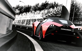 Picture Ass, Red, Marussia, Supercar, Russian, Marusya