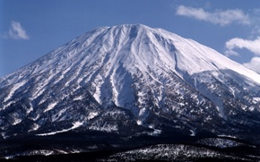 Picture winter, snow, mountain, the volcano
