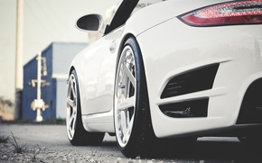 Wallpaper Wallpaper HD, wallpapers, Photo, porsche, the view from the back, white, cars, auto, wallpapers auto, ...