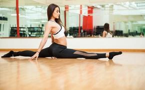 Wallpaper brunette, yoga, pose, workout
