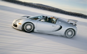 Picture winter, speed, Bugatti, Veyron, Bugatti, winter, speed, Veyron, Grand Sport, 16.4