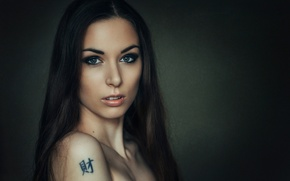 Wallpaper shoulder, tattoo, Masha, just Mary