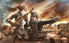 Picture war, soldiers, Valkyria Chronicles