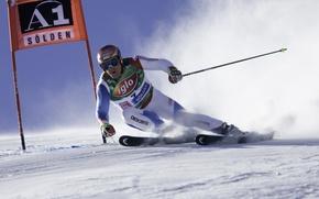 Picture snow, track, Head, skiing, Leki, ski, Solden, Didier Cuche