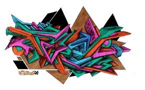 Picture graffiti, wild style, FireX