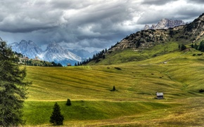 Picture clouds, landscape, mountains, nature, photo, Alps, meadow, Italy