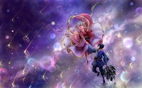 Picture water, naruto, art, sakura, sasuke, cosplay, Starfall, humoster