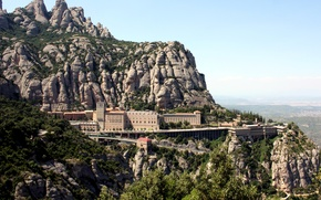 Picture mountains, stones, rocks, panorama, Spain, the monastery, Monastery of Montserrat