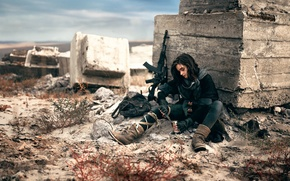 Picture girl, weapons, machine, Blackbird, canned, and lunch schedule, war is war