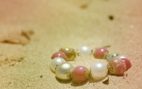 Picture sand, beach, summer, the sun, light, mood, stay, color, bracelet