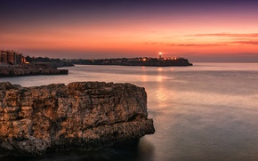 Picture colorful, light, summer, landscape, coast, seascape, rocks, morning, sunrise, Spain, holiday, lighthouse, reflections, outdoor, Mallorca, …