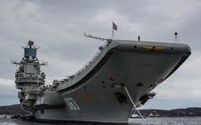 "Picture cruiser, heavy, aircraft carrier, ""Admiral Kuznetsov"""
