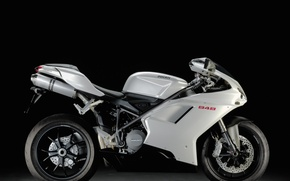 Picture white, Motorcycle, ducati