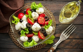 Picture tomatoes, oil, food, Caprese, mozzarella, Basil, caprese, salad, salad, cheese, appetizer