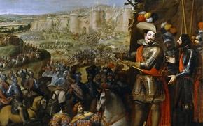 Picture picture, army, fortress, siege, battle genre, The Capture Of Rheinfelden, Vincenzo Carducci