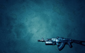 Wallpaper weapons, minimalism, with modifications