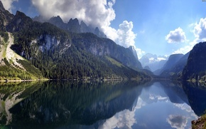 Picture clouds, reflection, Austria, Austria, Dachstein