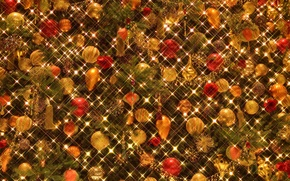 Picture lights, background, holiday, toys, Christmas, New year