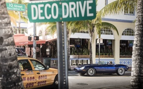 Picture machine, street, Jaguar, Miami, Eagle, sportcar, Miami, street, SPEEDSTER, E-TYPE
