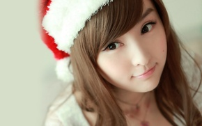 Picture christmas, brown eyes, smile, lips, asian, cute, Lin Ketong