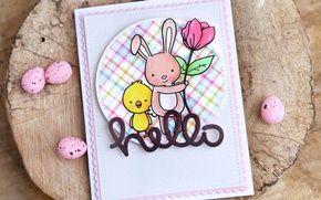 Picture Easter, congratulations, postcard, easter, card, greeting