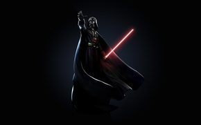 Wallpaper black, sword, Star wars