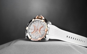 Picture design, leather, Jack pierre, white watch