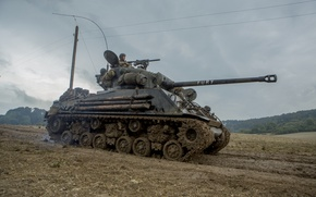 "Picture war, tank, average, M4 Sherman, period, Fury, world, Second, ""Sherman"", ""Fury"""