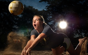 Picture girl, sport, volleyball