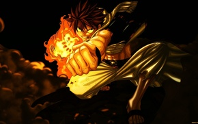Picture anime, anime, fairy tail, natsu dragneel, guy.