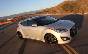 Picture Hyundai, with, Turbo, Veloster, Toyo Tires, &, Konig Whe