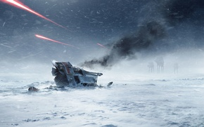 Picture snow, game, snowmobile, Electronic Arts, AT-AT, DICE, Hot, star wars battlefront, Hoth