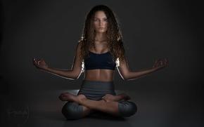 Picture dark, light, yoga