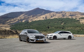 Picture Mercedes-Benz, Mercedes, AMG, AMG, Sports Package, Shooting Brake, CLA, 4MATIC, 2015, X117, Orange Art