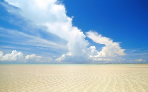 Picture sand, sea, summer, the sky, water, clouds, Wave
