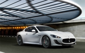 Picture white, white, auto, Maserati, Maserati GranTurismo 2012
