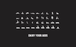 Picture advertising, and as well, started, AIDS