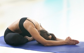 Wallpaper relaxation, yoga pose, stretching