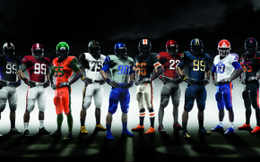 Picture sport, form, American football, Nike Pro combat 2010, NCAA